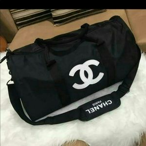 Authentic Chanel gift travel duffle bag